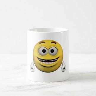 Happy emoticon coffee mug