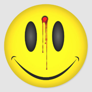 Happy Face Bullet Hole Stickers