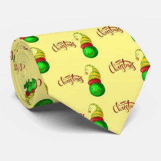 Happy Face Christmas Ball Tie