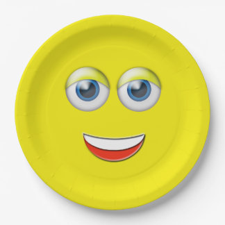 Happy Face Emoji Paper Plate  sc 1 st  Zazzle NZ & Funny Smiley Plates | Zazzle.co.nz