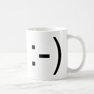 Happy face emoticon! basic white mug