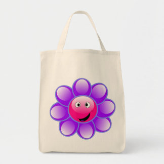 Happy Face Flower tote bag