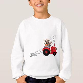 Happy Farmer using a Tractor Sweatshirt