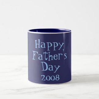 Happy, Father's, Day, 2008 Two-Tone Coffee Mug