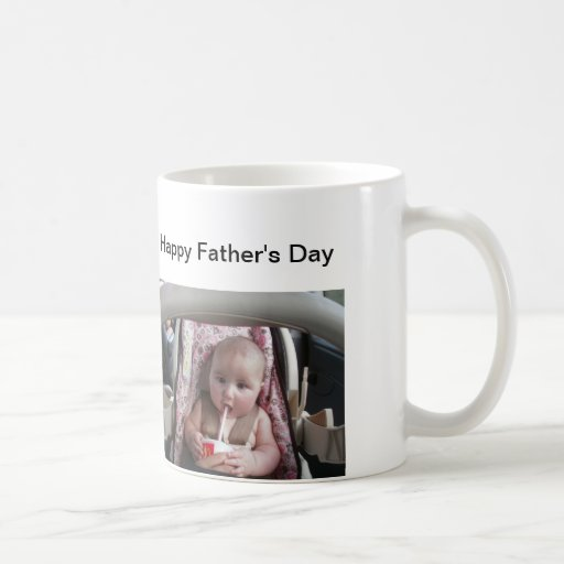 Happy Father's Day ad your own image. Mug