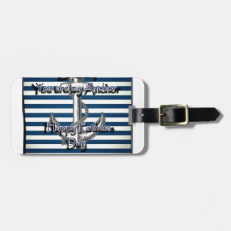 Happy Fathers Day Anchor Bag Tag
