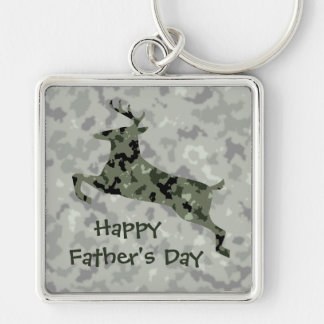 Happy Father's Day Camo Deer Key Ring
