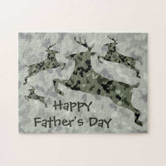 Happy Father's Day Camo Deer Puzzle