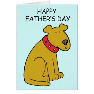 Happy Father's Day Dog Card