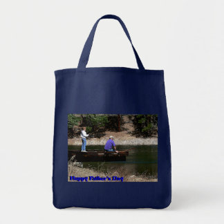 Happy Fathers Day Fishing Tote Bag