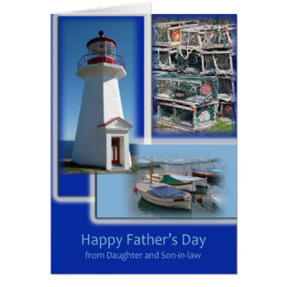 Happy Father's Day - From Daughter and Son-in-law Greeting Card