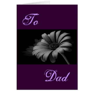 Happy Father's Day Grey Daisy I Greeting Cards