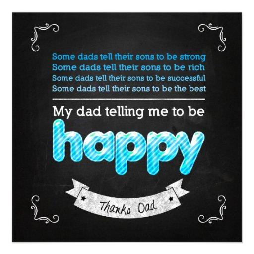 Happy Father's day Custom Invites