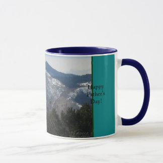 Happy Father's Day Mug - Mountains & Trees