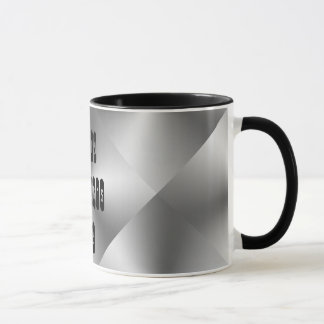 Happy Father's Day Stylish Metallic Silver Black Mug