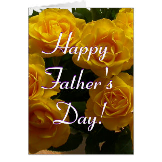 Happy Father's Day Yellow Roses I Greeting Card
