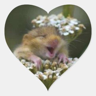 Happy Field Mouse Sticker