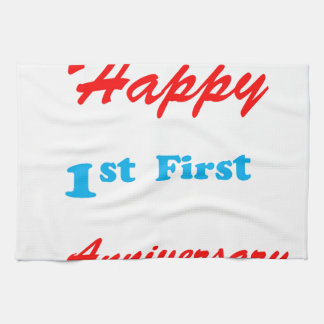 HAPPY First 1st ANNIVERSARY Blessings Celebrations Towel