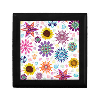 Happy floral pattern gift box