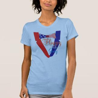 Happy Fourth of July USA Bowtie Tuxedo T-Shirt