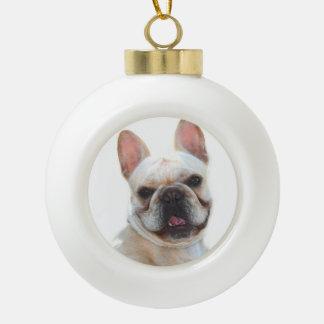 Happy French Bulldog dog Ornament