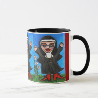 Happy Funky Preachin' Nun - mug