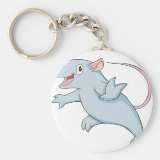 Happy Gerbil Basic Round Button Key Ring