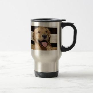 Happy Golden Retriever Stainless Steel Travel Mug