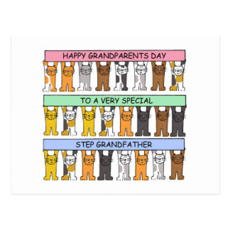 Happy Grandparents Day Step Grandfather. Postcard