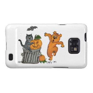 Happy Halloween! 5  Cat bat Pumpkin spider dog Samsung Galaxy SII Covers