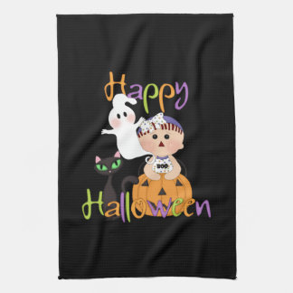 Happy Halloween Baby Friends Tea Towel