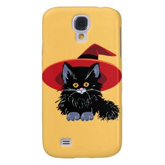 Happy Halloween Black Cat Galaxy S4 Case