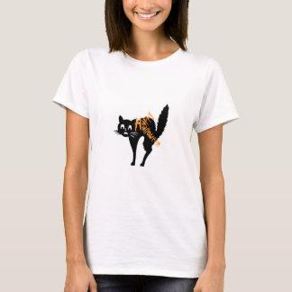 Happy Halloween Black Kitten Fraidy Cat T-Shirts