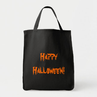 Happy Halloween candy carrier Grocery Tote Bag