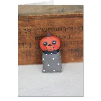 Happy Halloween, Pumpkin Head Greeting Card