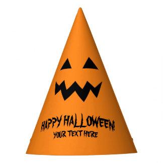 Happy Halloween pumpkin head paper party hats