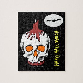 Happy Halloween Skull Puzzle