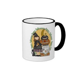 Happy Halloween Witches Treats Ringer Mug