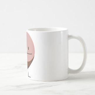 Happy Ham Meat Food Basic White Mug