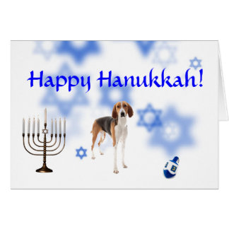 Happy Hanukkah American Fox hound Card