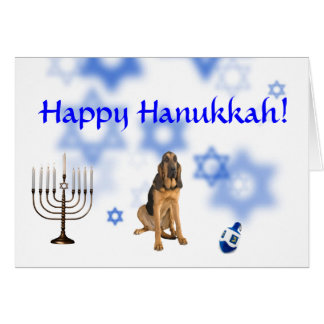 Happy Hanukkah Blood Hound Card