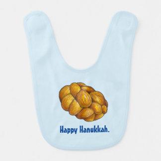 Happy Hanukkah Chanukah Challah Bread Bib
