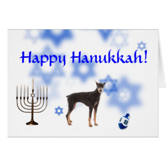 Happy Hanukkah Doberman Pinscher Card