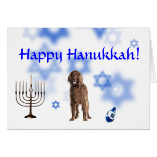 Happy Hanukkah Irish Setter Card