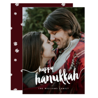 Happy Hanukkah Photo Card
