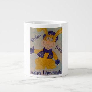 HAPPY HANUKKAH RABBI RABBIT LARGE COFFEE MUG