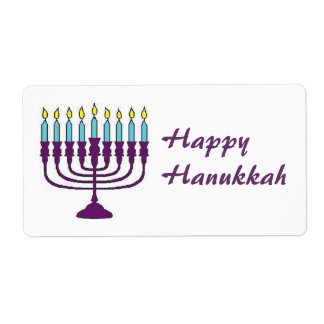 Happy Hanukkah Shalom Shipping Label