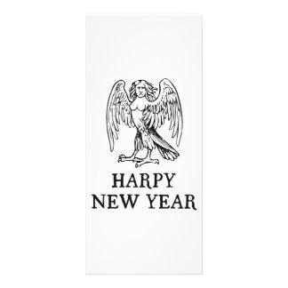Happy Harpy New Year Rack Card