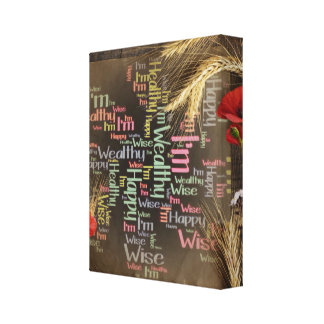 Happy, healthy, wealthy & wise on canvas canvas print