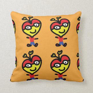 happy heart smart throw pillow
